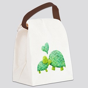 Turtle Hugs Canvas Lunch Bag
