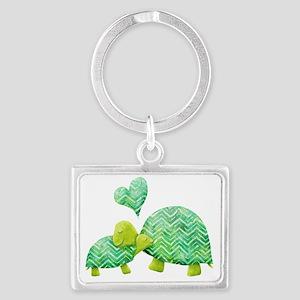 Turtle Hugs Landscape Keychain