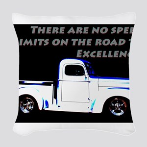 No Speed Limits Woven Throw Pillow
