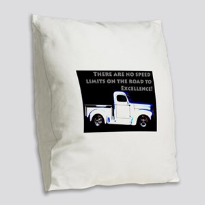 No Speed Limits Burlap Throw Pillow