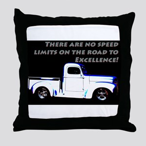 No Speed Limits Throw Pillow