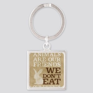 Animals are our Friends Square Keychain