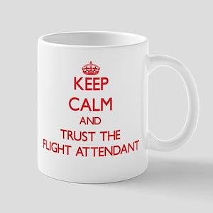 Keep Calm and Trust the Flight Attendant Mugs