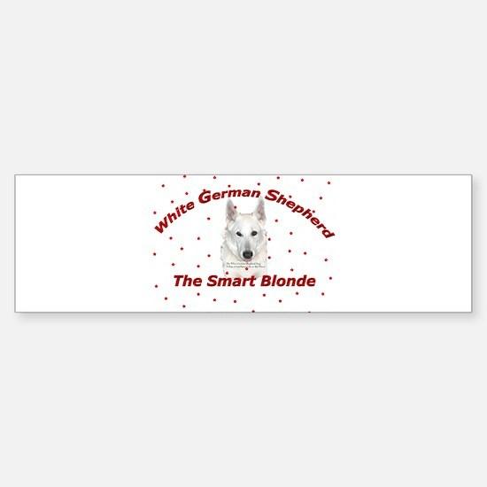 The Smart Blonde Bumper Bumper Bumper Sticker