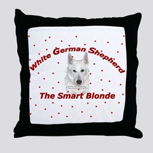 The Smart Blonde Throw Pillow
