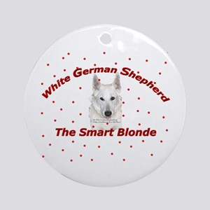 The Smart Blonde Ornament (Round)