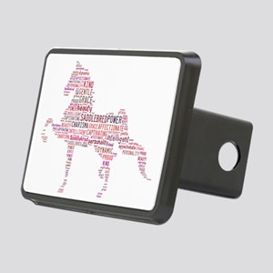 Saddlebred Art In Pink Rectangular Hitch Cover