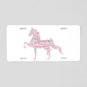 Saddlebred Art In Pink Aluminum License Plate