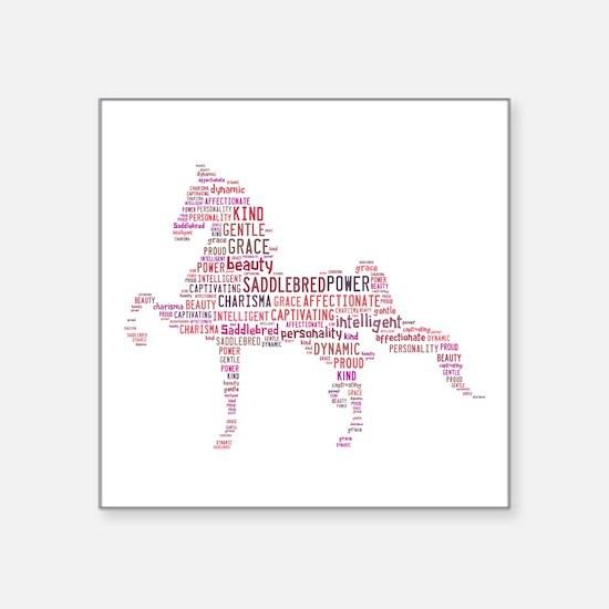 "Saddlebred Art In Pink Square Sticker 3"" X 3"""