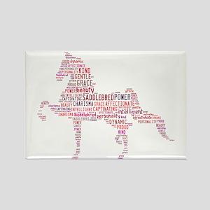 Saddlebred Art In Pink Rectangle Magnet