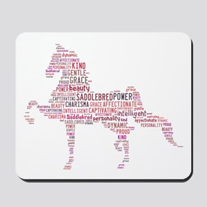 Saddlebred Art In Pink Mousepad