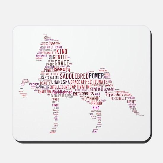 Saddlebred Art In Pink Mousepad