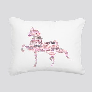 Saddlebred Art in Pink Rectangular Canvas Pillow