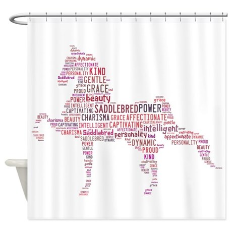 Saddlebred Art In Pink Shower Curtain
