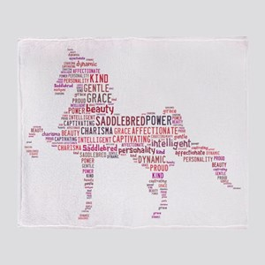 Saddlebred Art In Pink Throw Blanket