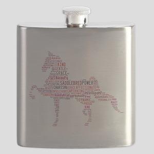 Saddlebred Art in Pink Flask