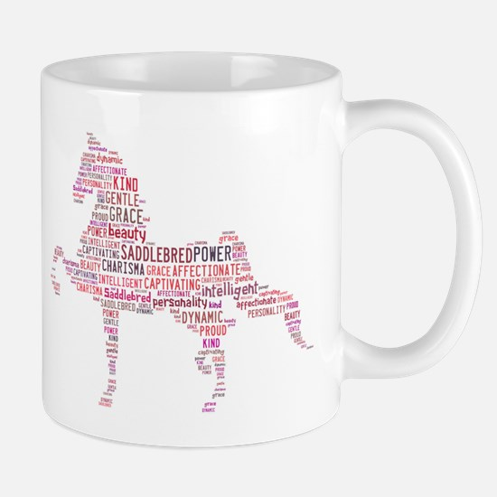 Saddlebred Art in Pink Mugs