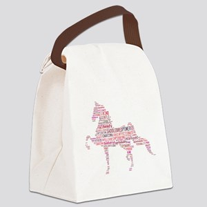 Saddlebred Art in Pink Canvas Lunch Bag