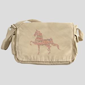 Saddlebred Art in Pink Messenger Bag