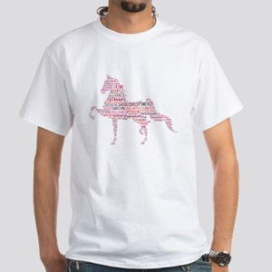 Saddlebred Art in Pink T-Shirt