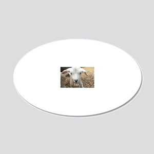 Willoughby the Lamb 20x12 Oval Wall Decal
