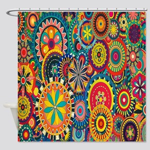 Colorful Mosaic Shower Curtain