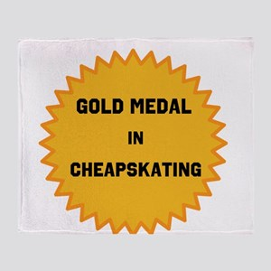 Gold Medal in Cheapskating Throw Blanket