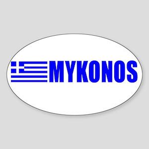 Mykonos, Greece Oval Sticker