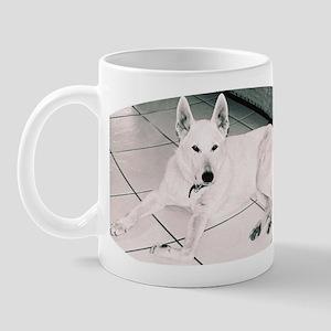 White German Shepherd Dog, to Mug