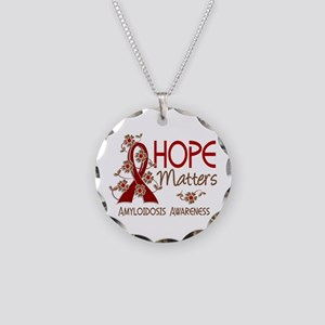 Hope Matters 3 Amyloidosis Necklace Circle Charm
