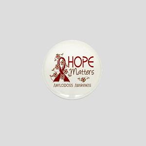 Hope Matters 3 Amyloidosis Mini Button