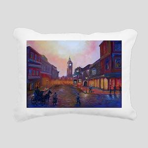 Sherlock Holmes in Londo Rectangular Canvas Pillow