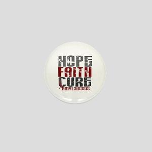 Hope Faith Cure Amyloidosis Mini Button