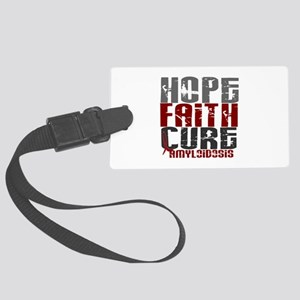 Hope Faith Cure Amyloidosis Large Luggage Tag