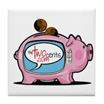 The Two Cents Tile Coaster