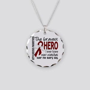 Bravest Hero I Knew Amyloido Necklace Circle Charm
