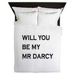 Will You Be My Mr Darcy Queen Duvet