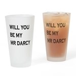 Will You Be My Mr Darcy Drinking Glass