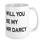 Will You Be My Mr Darcy Mugs