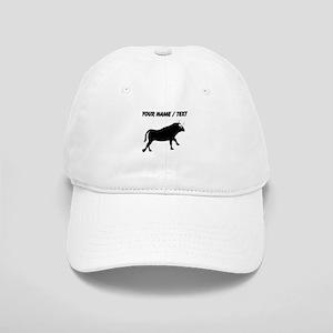 Custom Black Bull Baseball Cap