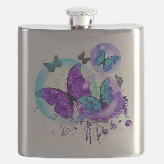 Bubble Butterflies CM BB Flask