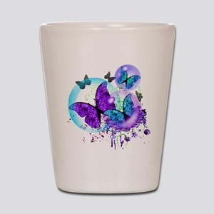 Bubble Butterflies CM BB Shot Glass