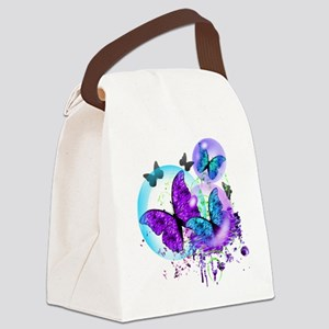 Bubble Butterflies CM BB Canvas Lunch Bag