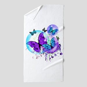 Bubble Butterflies CM BB Beach Towel