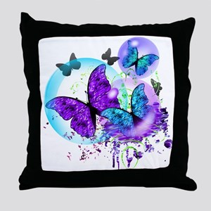 Bubble Butterflies CM BB Throw Pillow