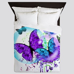 Bubble Butterflies CM BB Queen Duvet