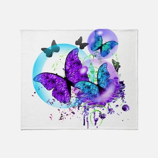 Bubble Butterflies CM BB Throw Blanket