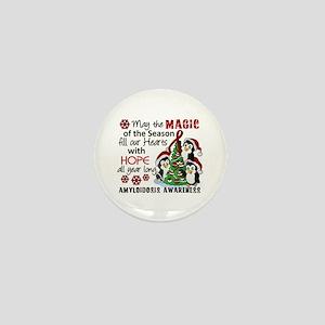 Christmas Penguins Amyloidosis Mini Button