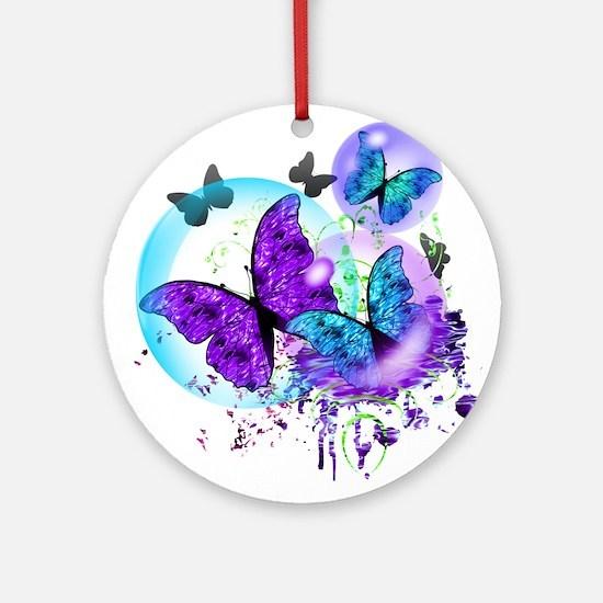 Bubble Butterflies CM BB Ornament (Round)