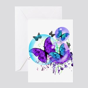 Bubble Butterflies CM BB Greeting Cards